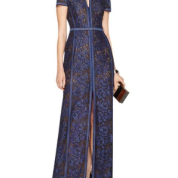 BCBGMaxAzria Dresses   Cailean Floral Lace Gown   Poshmark